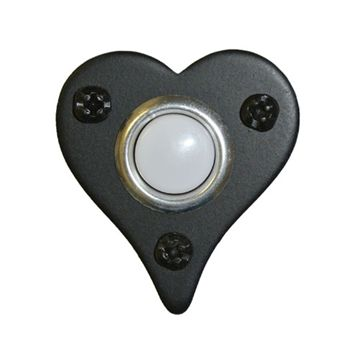 Acorn Bell Button Smooth Iron Heart Shape