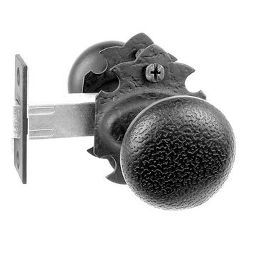 Acorn Double Knob Latch Set with Rough Knob and Warwick Rosette