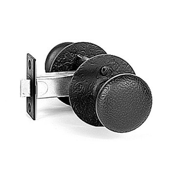 Acorn Double Knob Set With Round Backplate - 2 3/8 Inch Backset