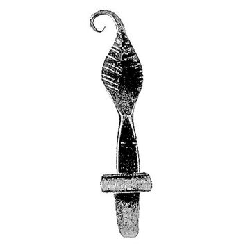 Acorn Hand Forged Leaf Design Hook