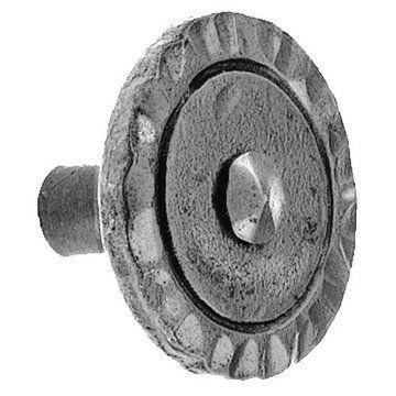 Acorn Iron Art Hammered Round Head Knob - 1 1/2 Inch