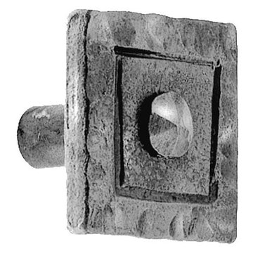 Acorn Iron Art Hammered Square Head Knob - 1 1/4 Inch