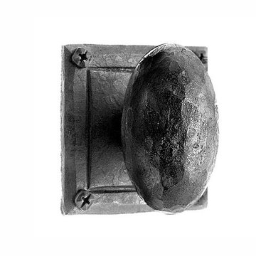 Acorn Iron Art Privacy Door Knob Set