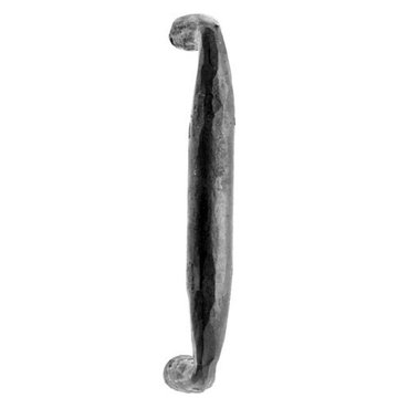 Acorn Iron Door Pull with Rounded End - 10 Inch