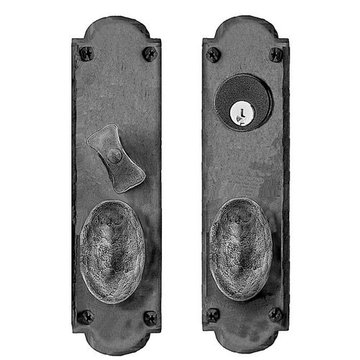 Acorn Mortise Lock Arched Entrance Door Set With Oval Knobs