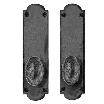 Acorn Mortise Lock Arched Entrance Dummy Door Set With Oval Knobs