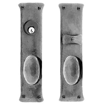 Acorn Mortise Lock Entrance Door Set With Oval Knobs