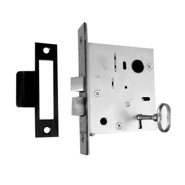 Acorn Mortise Skeleton Lock For Use With Lever And Turnpiece