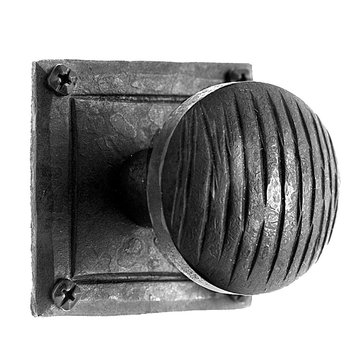 Acorn Ridged Dummy Knob With Flat Rose - 2 Inch Diameter