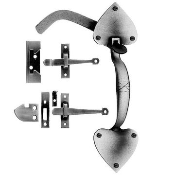 Acorn Rim Latch Set For Exterior Doors With Spade End - 12 13/16 Inch