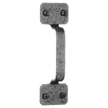 Acorn Rough Iron Cabinet Door Pull with Square Ends - 4 Inch Boring
