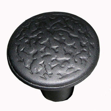 Acorn Rough Iron Round Knob