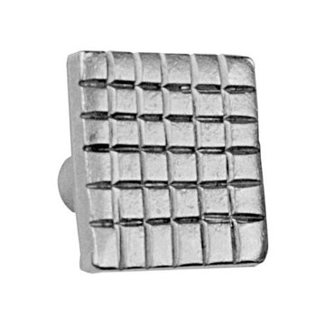 Acorn Stainless Steel Checkered Square Knob