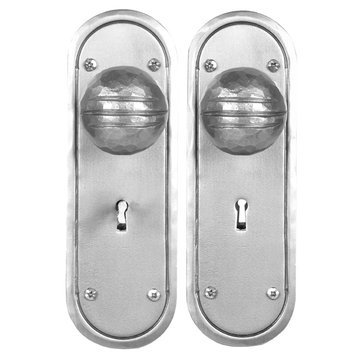 Acorn Stainless Steel Dummy Mortise Skeleton Key Entry Lock Set