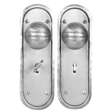 Acorn Stainless Steel Mortise Skeleton Key Entry Lock Set