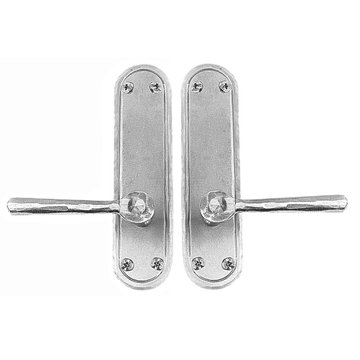 Acorn Stainless Steel Rounded Plate Exterior Dummy Set For Pre-Drilled Doors With Levers