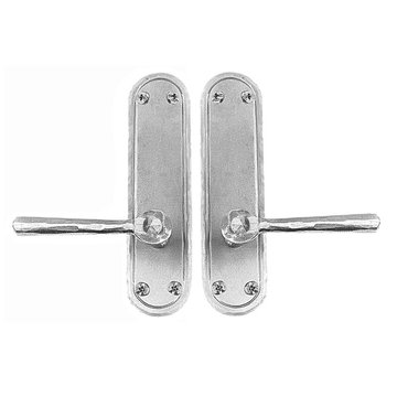 Acorn Stainless Steel Rounded Plate Exterior Entry Set For Pre-Drilled Doors With Levers