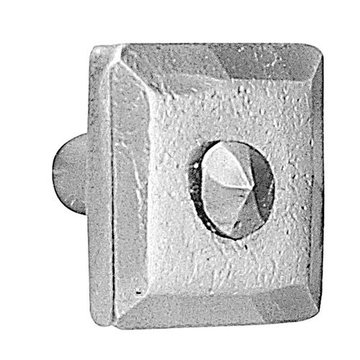Acorn Stainless Steel Square Knob With Rivet
