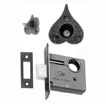 Mortise Deadbolt Set With Bean Thumbturn And Cylinder Collar