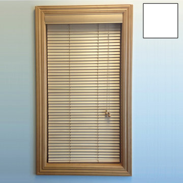 Restorers 1 Inch Horizontal Painted Basswood Blind - White
