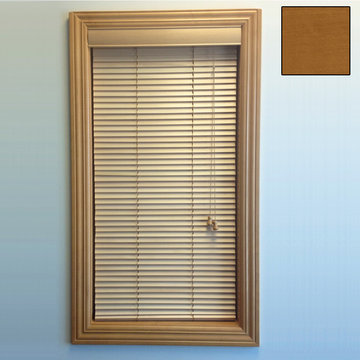 Restorers 1 Inch Horizontal Stained Basswood Blind - Sun Kissed Oak