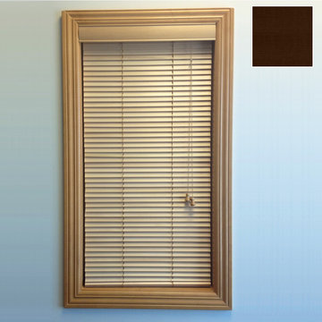 Restorers 1 Inch Horizontal Stained Basswood Blind - Espresso