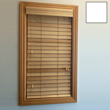 Restorers 2 Inch Horizontal Painted Basswood Blind - White