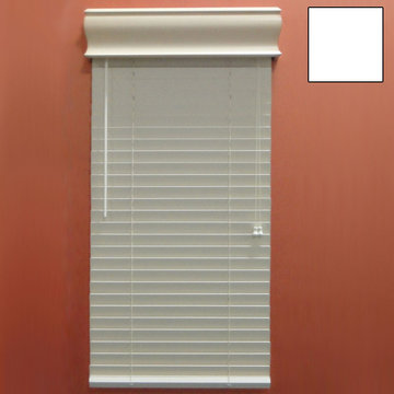 Restorers 2 Inch Horizontal Painted Faux Wood Blind - White