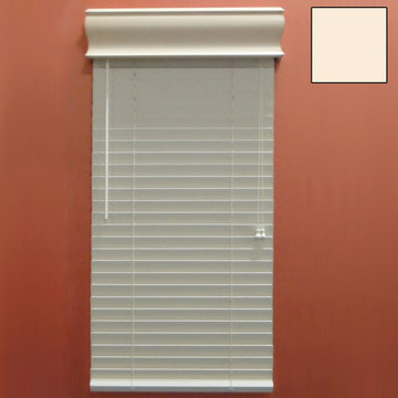 Restorers 2 Inch Horizontal Painted Faux Wood Blind - Cream