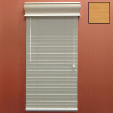 Restorers 2 Inch Horizontal Stained Faux Wood Blind - Oak