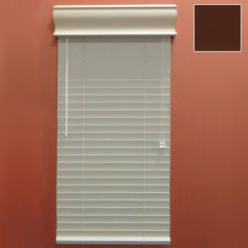 Restorers 2 Inch Horizontal Stained Faux Wood Blind - Cherry