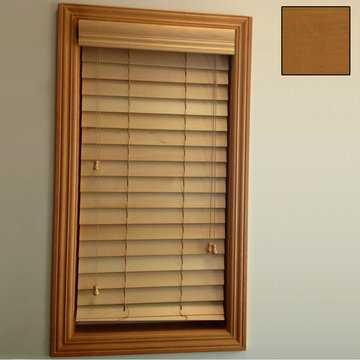 Restorers 2 1/2 Inch Horizontal Stained Basswood Blind - Sun Kissed Oak