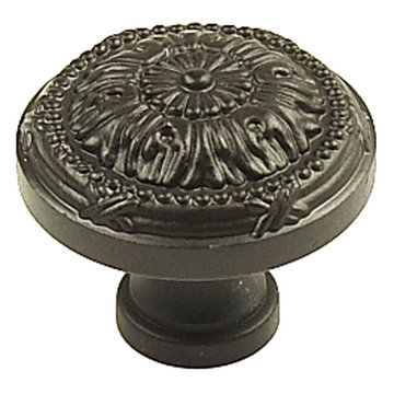 Century Hardware Georgian Flower Solid Brass Knob - 1 1/4 Inch