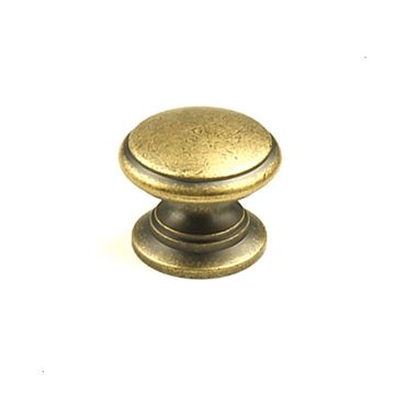 Century Hardware Hartford Antique Solid Brass Knob - 1 1/4 Inch