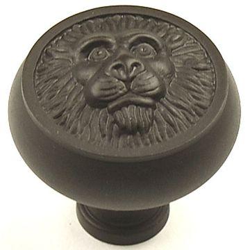 Century Hardware Roman Lion Large Solid Brass Knob - 1 1/2 Inch