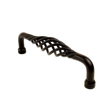 Century Hardware Saxon Wrought Iron Appliance Pull - 8 Inch
