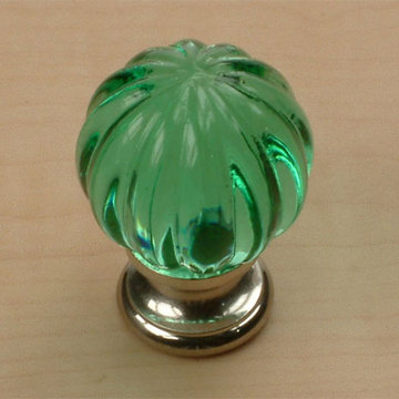 Century Hardware Tahoe Scalloped Glass Knob - 1 1/4 Inch