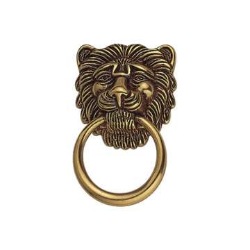 Classic Hardware 1800 Circa Brass Drop Lion Ring Pull