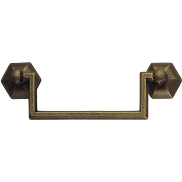 Marella 1800 Circa Classic Squared Brass Drop Pull