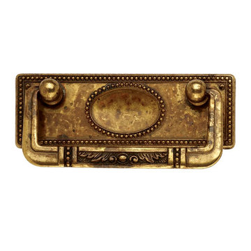 Classic Hardware Antique Style Drop Pull With Backplate