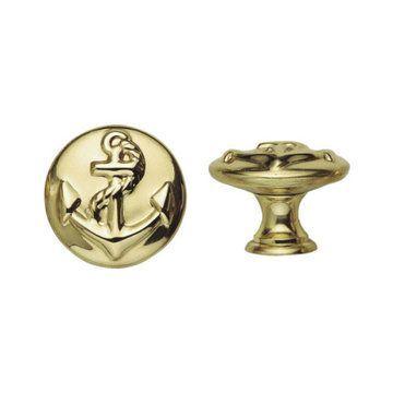 Marella Brass Anchor Round Cabinet Knob