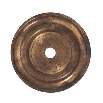 Marella Brass Cabinet Knob Round Backplate