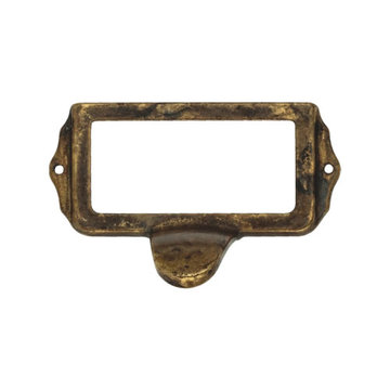 Classic Hardware Classic Brass Cup Bin Pull Card Holder