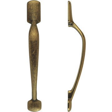 Classic Hardware Classic Series Primitive Brass Vertical Cabinet Pull