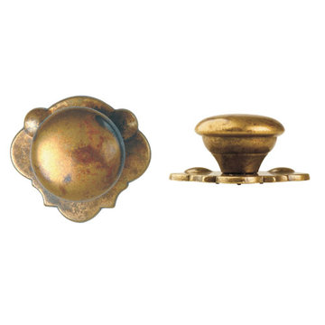 Marella Classic Round Cabinet Knob with Backplate