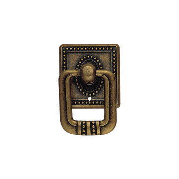 Classic Hardware Classic Series Vertical Drop Pull With Square Backplate