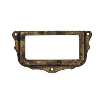 Classic Hardware Decorative Brass Card Holder