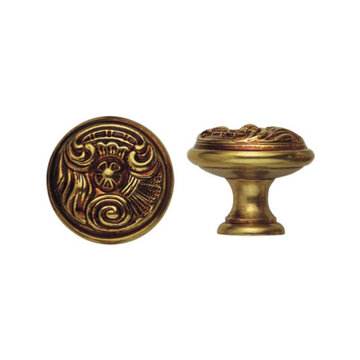 Classic Hardware Louis XV Round Cabinet Knob