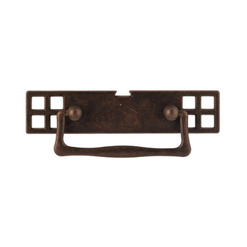Classic Hardware Oriental Series Drop Pull With Rectangular Backplate