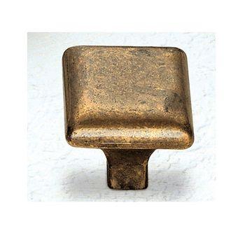Classic Hardware Simple Square Brass Cabinet Knob